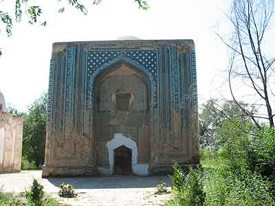 Photograph showing the Tughluq Tömur Khan mazar in Huocheng in 2004.